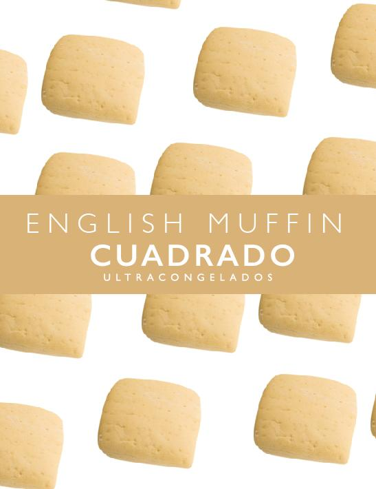 English muffin cuadrado 10cm x 10cm